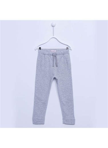 Silversun Kids Kız Çocuk Belden Lastikli Sweat Pantolon - Jp-213300 Gri